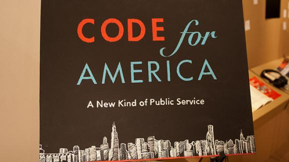 Code for America sign