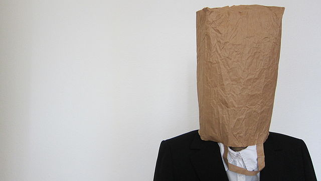Paperbag over head