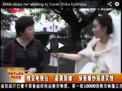 Employee of The Year: Chinese Journalist Interrupts Her Wedding to Cover an Earthquake