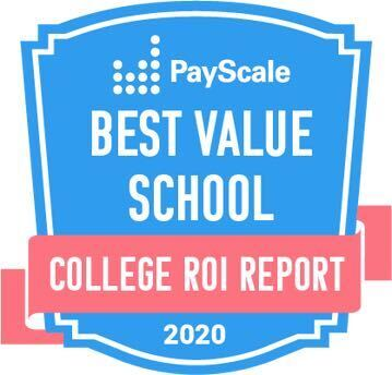 PayScale College ROI Best Value School Badge