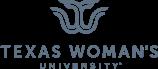 Texas Woman's University logo in monochrome