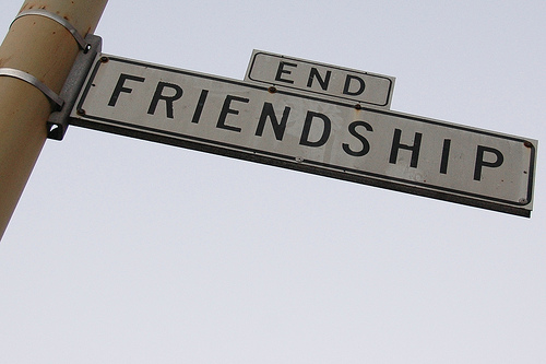 End Friendship sign